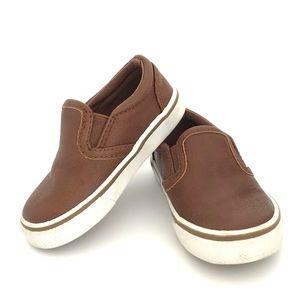 Circo Brown Leather Slip Ons